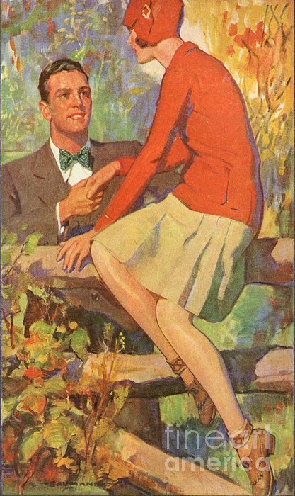 Romance 1920s Usa Manners Chivalry Print by The Advertising Archives