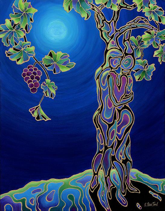 Romance On The Vine Print by Sandi Whetzel