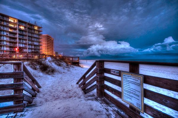 Romar Beach Clouds Print by Michael Thomas