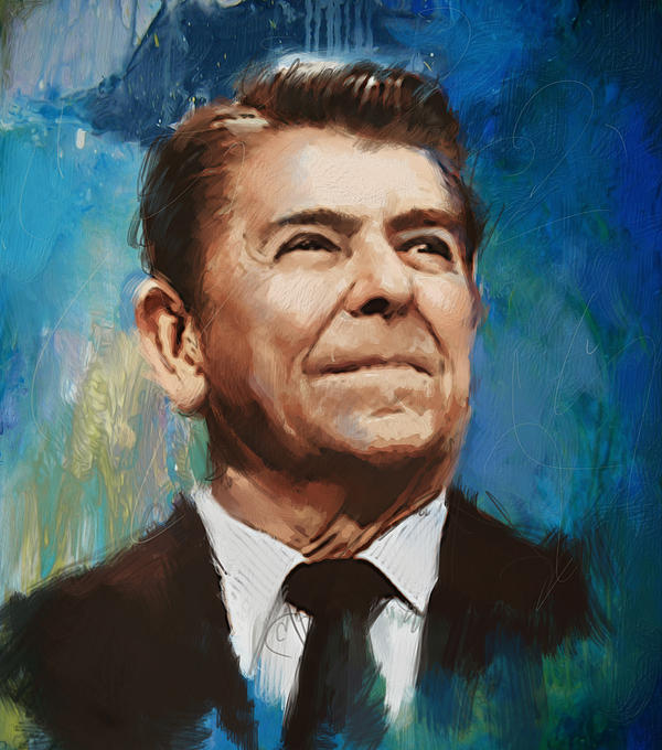 Ronald Reagan Portrait 6 Print by Corporate Art Task Force