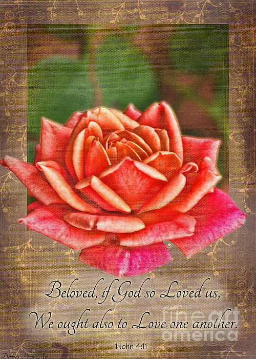 Rose Greeting Card With Verse Print by Debbie Portwood