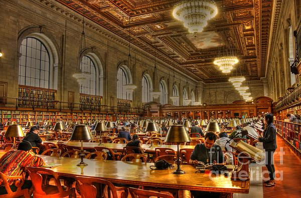 Rose Reading Room Print by David Bearden