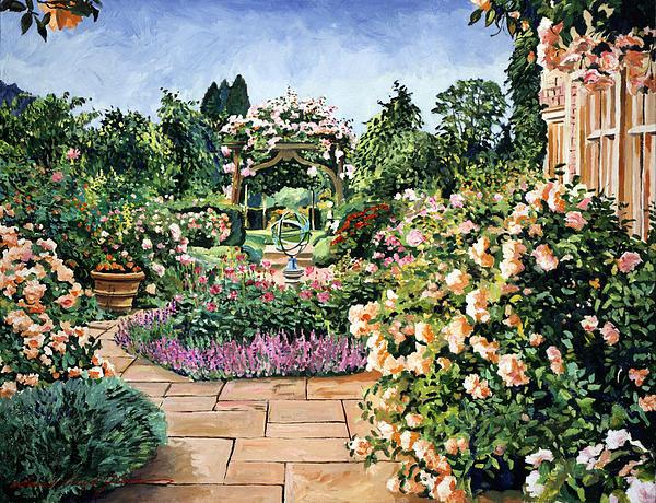 Roses Orange Print by David Lloyd Glover