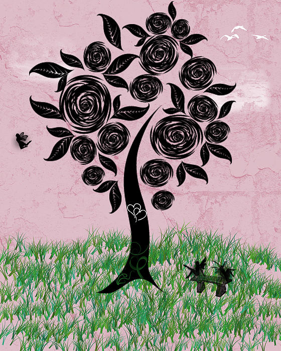 Rosey Posey Print by Rhonda Barrett