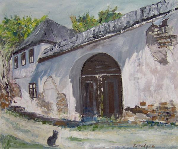 Rosia Montana Old House Print by Maria Karalyos