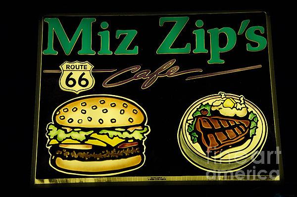 Route 66 Miz Zips Print by Bob Christopher