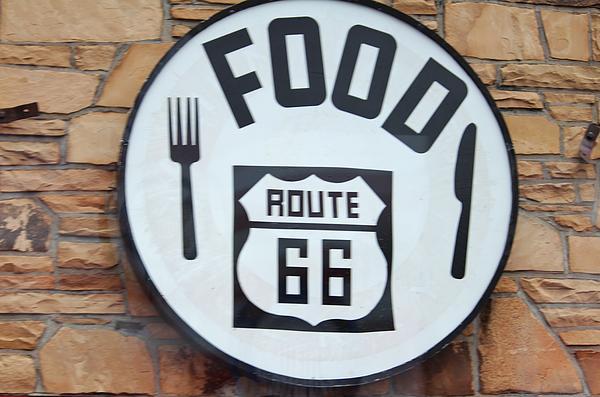 Route 66 Restaurant  Print by Cynthia Guinn