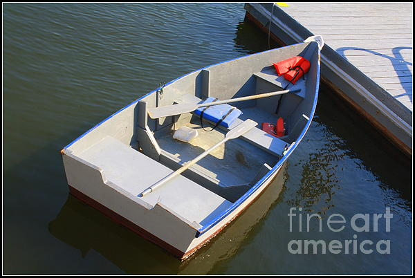 Rowboat At The Bay Print by  Photographic Art and Design by Dora Sofia Caputo