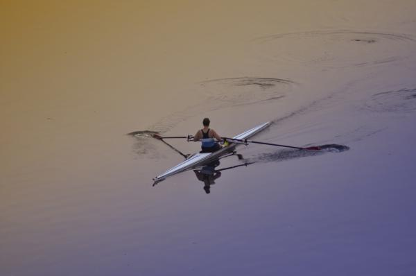Rower Print by Bill Cannon
