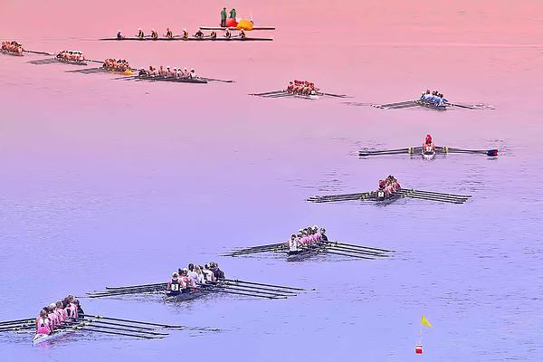 Rowers Arc Print by Gary Holmes