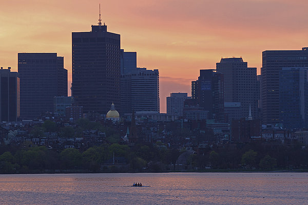 Rowing Boston Print by Juergen Roth