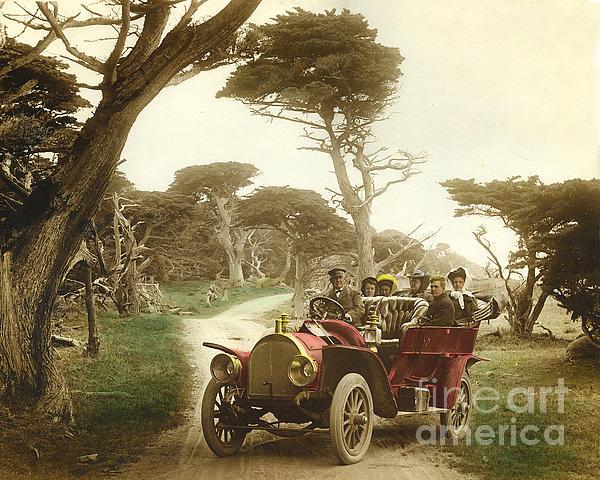 California Views Mr Pat Hathaway Archives - Royal Tourist touring car model G3 at Cypress Grove in Pebble Beach California 1910