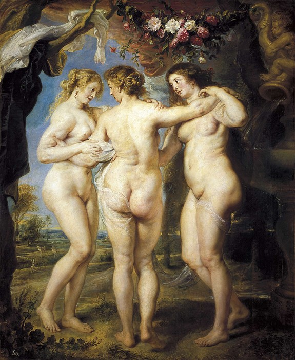 Rubens, Peter Paul 1577-1640. The Three Print by Everett