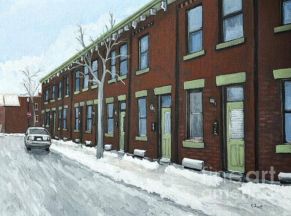 Rue Grand Trunk Pointe St. Charles Print by Reb Frost