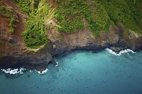 Rugged Kauai Coastline Print by Kicka Witte