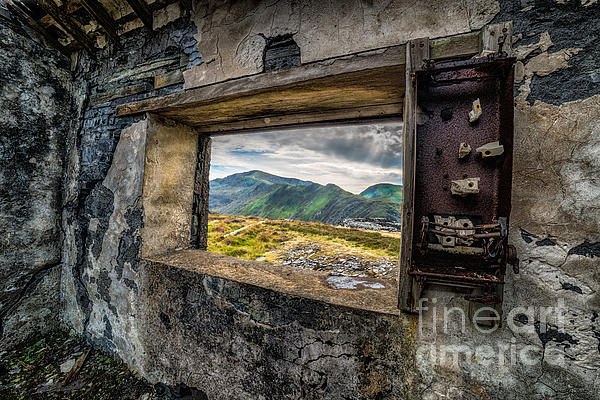 Ruin With A View  Print by Adrian Evans