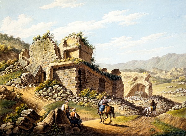 Ruins Of The Stadium, 1790s Print by Gaetano Mercati