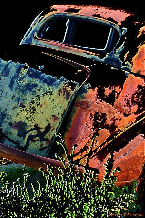 Rumble Seat Print by Barbara D Richards