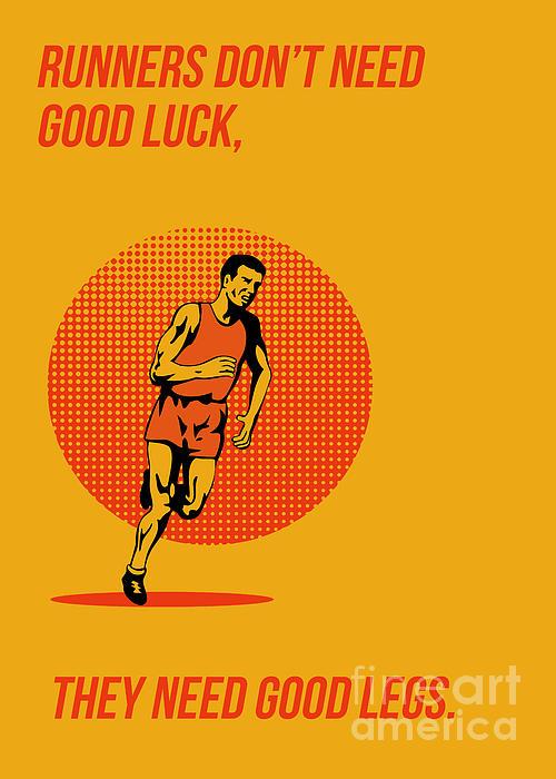 Runner Running Marathon Poster Print by Aloysius Patrimonio