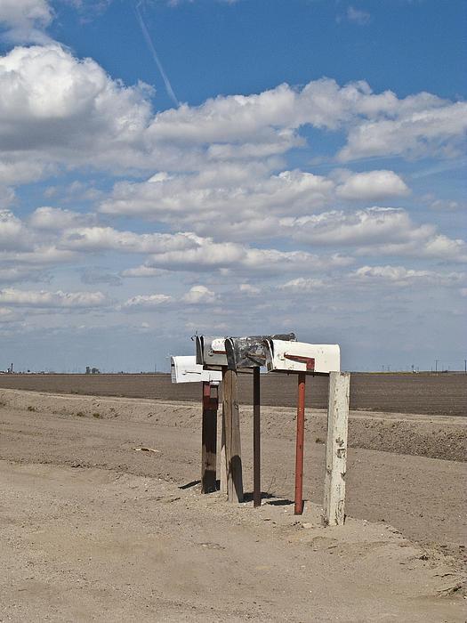 Rural Mailboxes Print by David Litschel