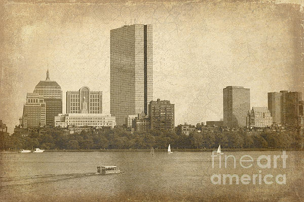 Rustic Boston Print by Jayne Carney