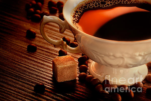 Rustic Coffee Print by Mythja  Photography