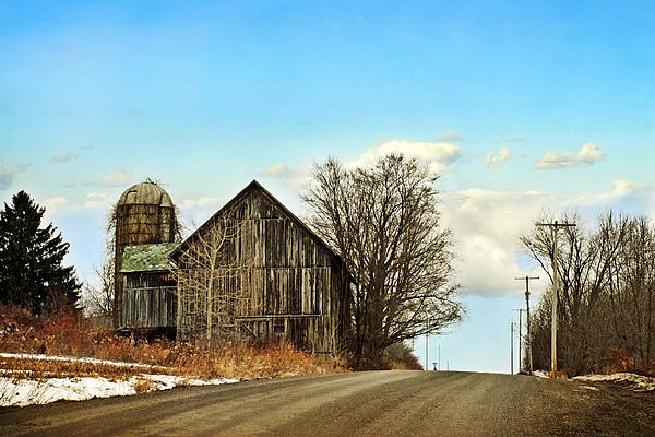 Rustic Country Barn Print by Christina Rollo