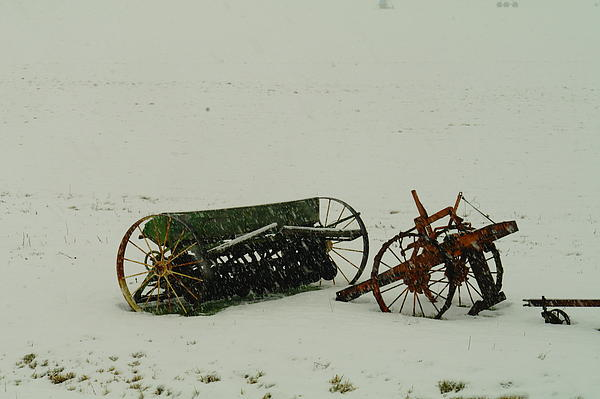Rusting In The Snow Print by Jeff  Swan