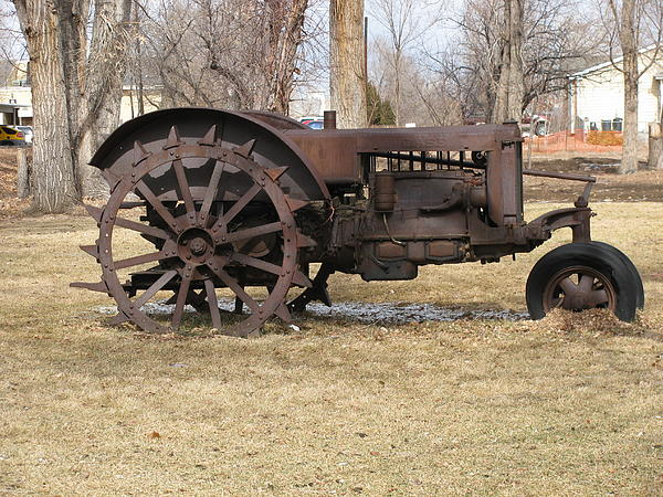 Rusty Case Tractor Print by Steven Parker