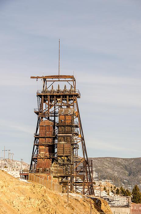 Rusty Mining Headframe Print by Sue Smith