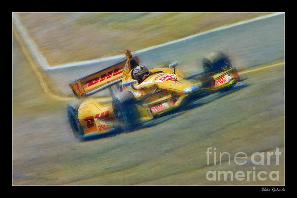 Ryan Hunter-reay Print by Blake Richards