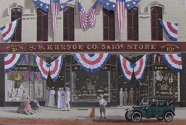 S. S. Kresge Five And Ten Cent Store Print by C Robert Follett