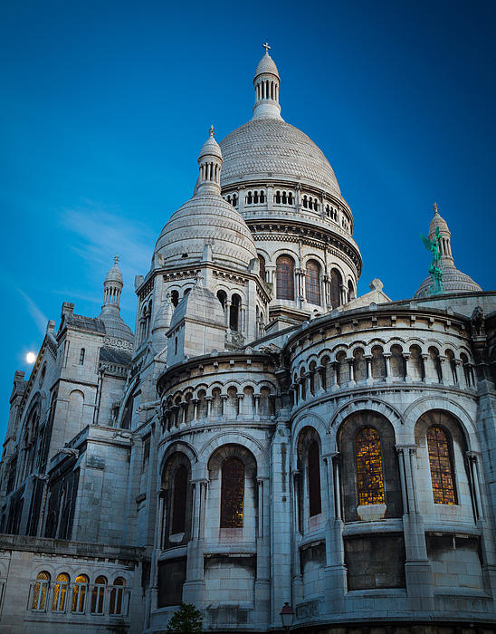 Sacre-coeur At Night Print by Inge Johnsson