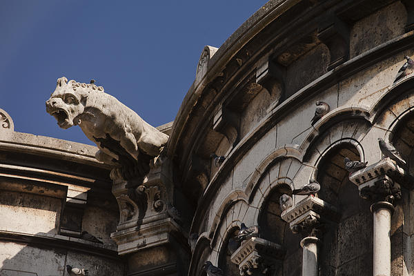 Sacre Coeur Gargoyle Print by Art Ferrier