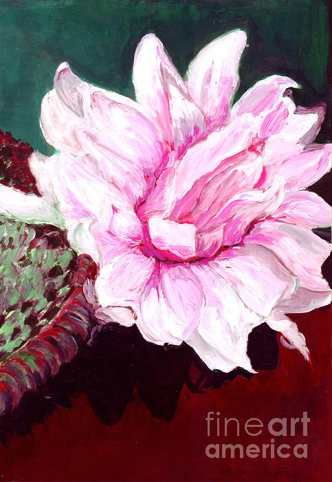 Sacred Pink Lotus Print by Mukta Gupta