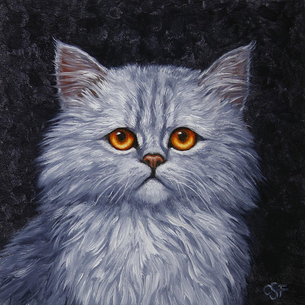 Sad Kitty Print by Crista Forest