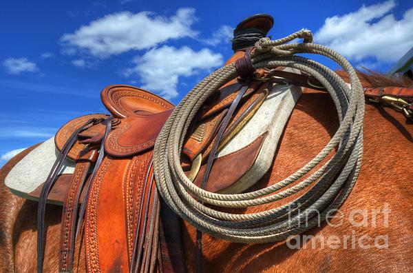 Saddle Up Print by Bob Christopher