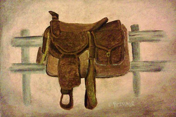 Saddle Up Print by Christy Brammer