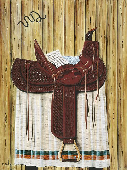Saddle Up Print by Jennifer Lake