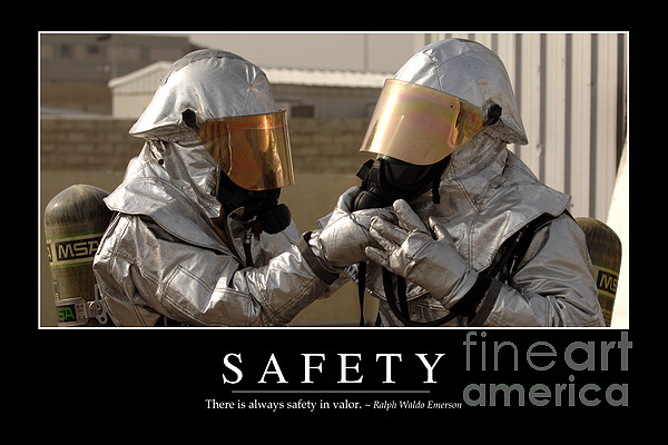 Safety Inspirational Quote Print by Stocktrek Images