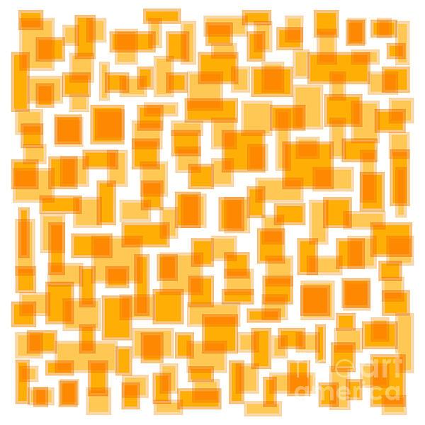 Saffron Yellow Abstract Print by Frank Tschakert