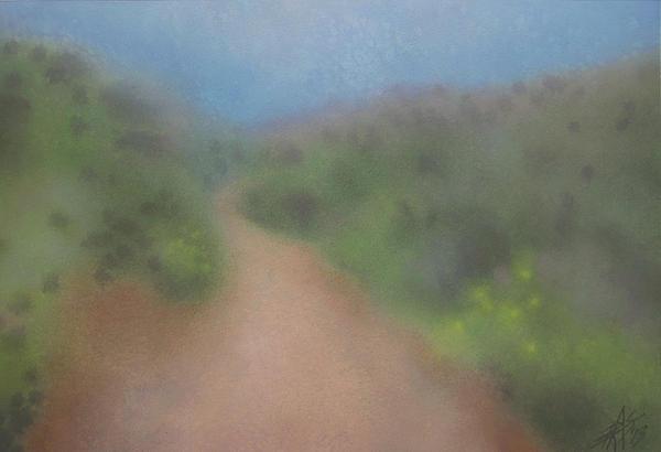 Sagebrush And Coastal Fog Print by Robin Street-Morris