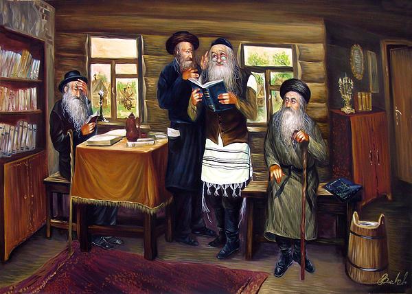 Sages Print by Haim Buhel