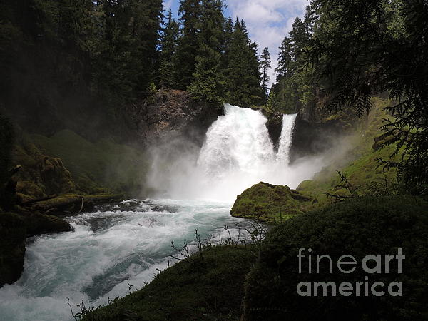 J J - Sahalie Falls 120 Feet High - Formed by Second Lava Flow 3000 Years Ago