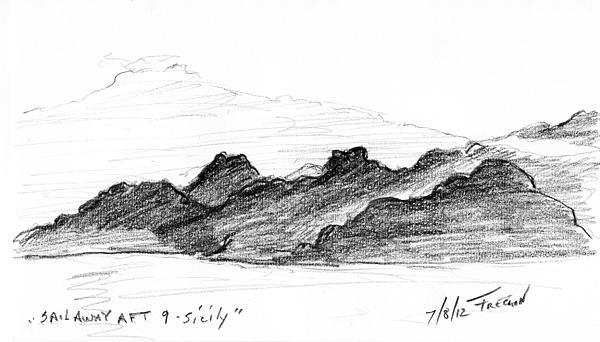 Sail Away Aft 9 Sicily Print by Valerie Freeman