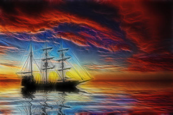 Sailboat Fractal Print by Shane Bechler