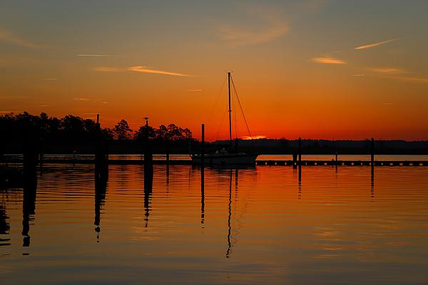 Brian Hamilton - Sailboat in the Bay
