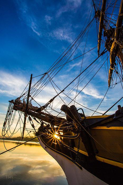 Sailboat Sunrise Print by Robert Bynum
