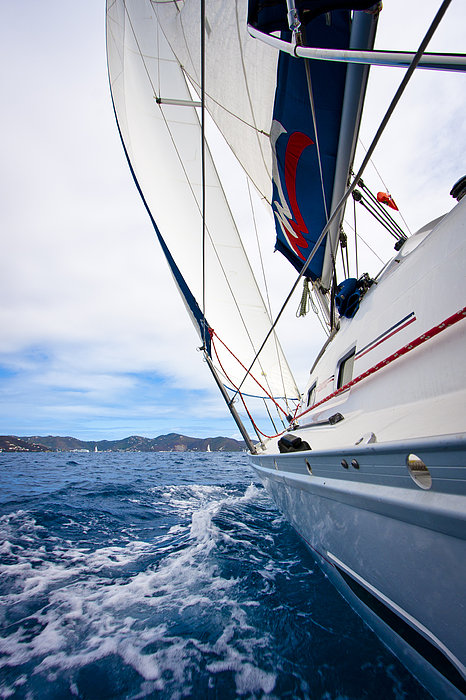 Sailing Bvi Print by Adam Romanowicz