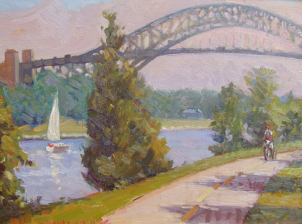 Sailing Cape Cod Canal Print by Dianne Panarelli Miller